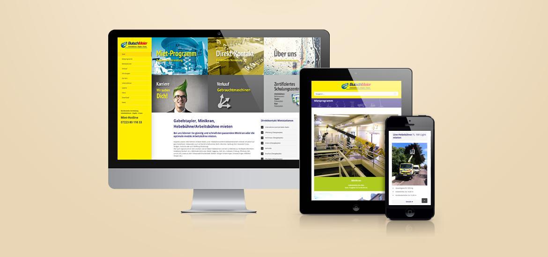 Website Butsch&Meier - BYTECOUNT Portfolio