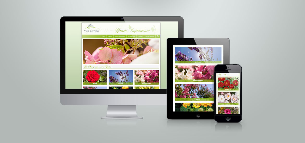 Website Screen Garten-Impressionen Villa Belveder