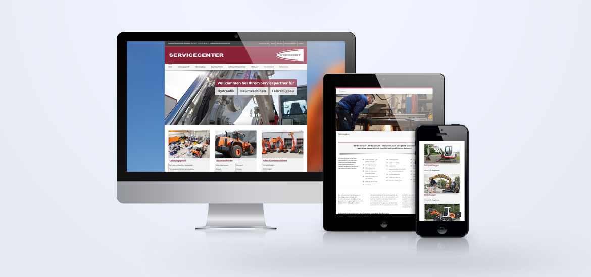 Website Reichert Servicecenter Baden-Baden